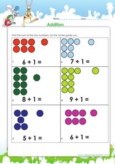 Addition of one to other numbers 6 to 10