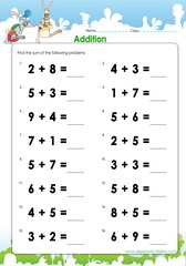 Math worksheets for early beginners – Free Pdf