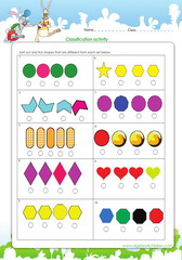 Classification by sorting out different shapes