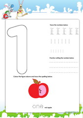 Tracing and spelling number 1