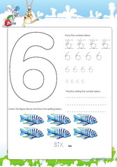 Tracing and spelling number 6