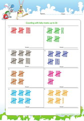 Learn counting tallies up to 30