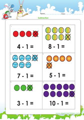 Subtract with dots as guides up to 10