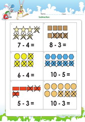 Subtract with shapes as guides up to 10