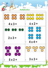 Introducing multiplication with dots as aids