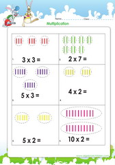 Visual aids in multiplication activities