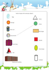 Relate shapes to real life objects