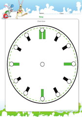 Activities on a clock face