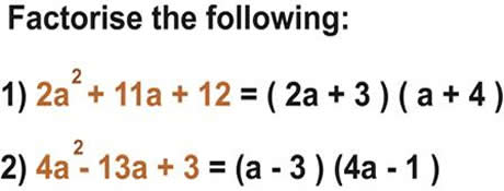 How to factorise trinomial expressions - This is a worked example for children